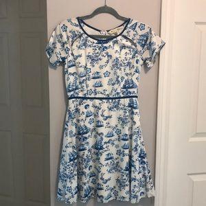 Yumi Kim White and Blue Seacoast Dress